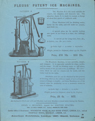 Advert For Fleuss' Domestic Hand Ice Machine reverse